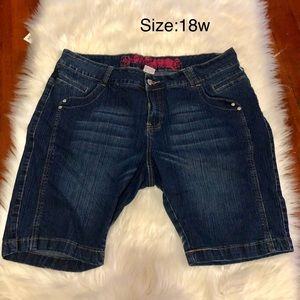 Pants - Denim Bermuda Shorts
